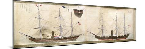 Ships of Commodore Perry's American Expedition to Japan of 1852-1854--Mounted Giclee Print
