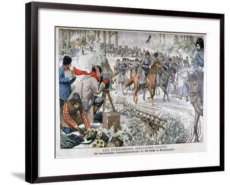 Filming in Manchuria During the Russo-Japanese War, 1904--Framed Art Print