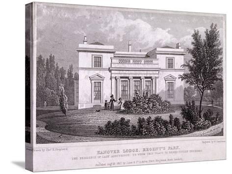 Hanover Lodge, Regent's Park, Marylebone, London, 1827-William Tombleson-Stretched Canvas Print