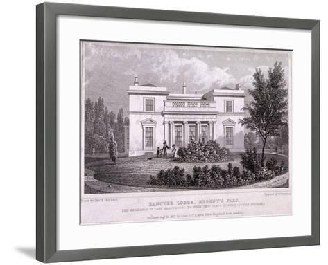 Hanover Lodge, Regent's Park, Marylebone, London, 1827-William Tombleson-Framed Art Print