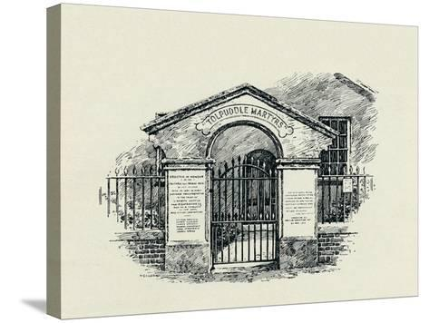 The Tolpuddle Memorial at the Tolpuddle Methodist Chapel, 1934--Stretched Canvas Print