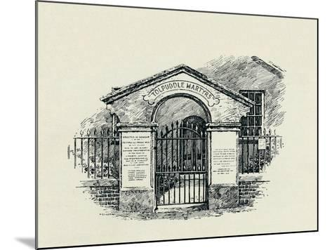 The Tolpuddle Memorial at the Tolpuddle Methodist Chapel, 1934--Mounted Giclee Print