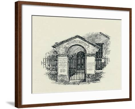 The Tolpuddle Memorial at the Tolpuddle Methodist Chapel, 1934--Framed Art Print