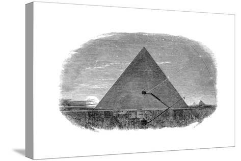 Great Pyramid of Cheops at Giza Being Used as an Astronomical Observatory--Stretched Canvas Print