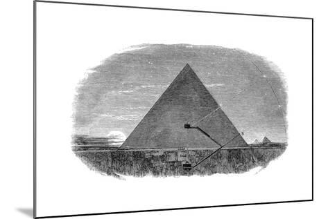 Great Pyramid of Cheops at Giza Being Used as an Astronomical Observatory--Mounted Giclee Print
