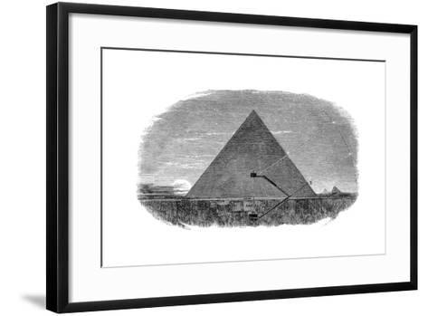 Great Pyramid of Cheops at Giza Being Used as an Astronomical Observatory--Framed Art Print