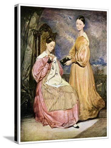 Florence Nightingale, British Nurse and Hospital Reformer, C1836-William White-Stretched Canvas Print