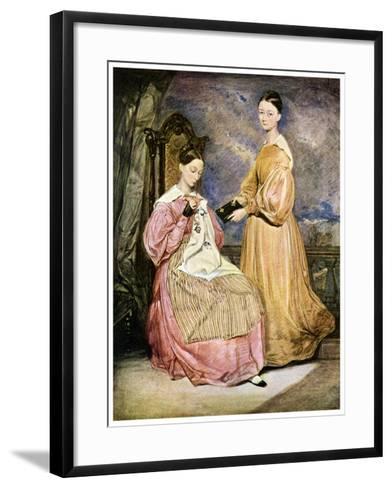Florence Nightingale, British Nurse and Hospital Reformer, C1836-William White-Framed Art Print