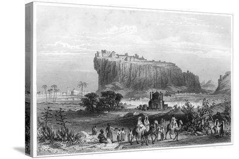 The Hill Fortress of Gwalior, India, C1860--Stretched Canvas Print