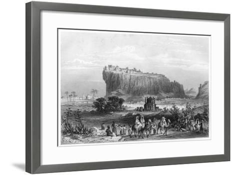 The Hill Fortress of Gwalior, India, C1860--Framed Art Print