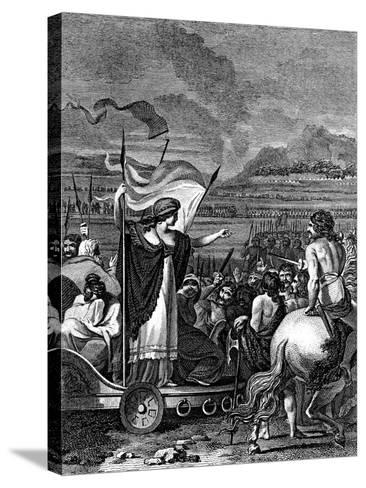 Boudicca (Boadice) Lst Century British Queen of Iceni, 1824--Stretched Canvas Print