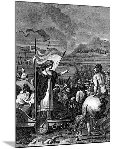 Boudicca (Boadice) Lst Century British Queen of Iceni, 1824--Mounted Giclee Print