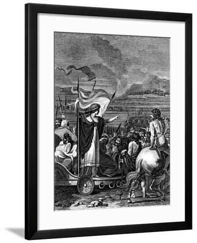 Boudicca (Boadice) Lst Century British Queen of Iceni, 1824--Framed Art Print