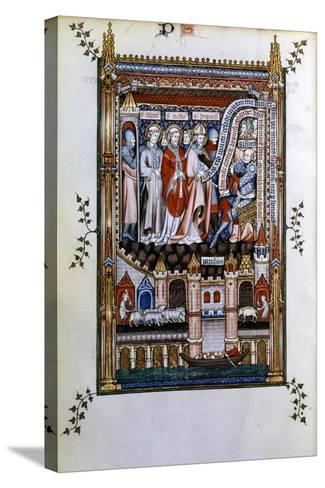 Sisinnius Exhorts St Denis to Renounce His Faith, 1317--Stretched Canvas Print
