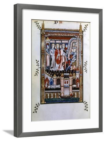 Sisinnius Exhorts St Denis to Renounce His Faith, 1317--Framed Art Print