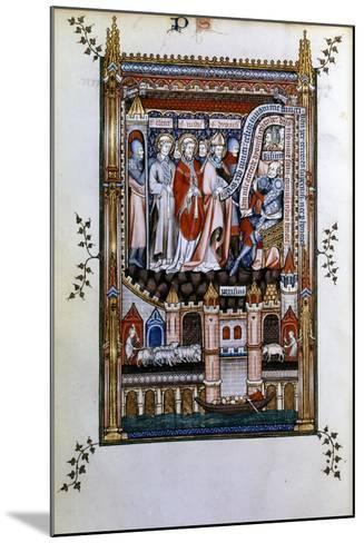 Sisinnius Exhorts St Denis to Renounce His Faith, 1317--Mounted Giclee Print