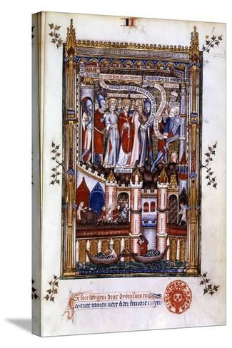 St Denis before Sisinnius, 1317--Stretched Canvas Print
