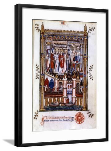 St Denis before Sisinnius, 1317--Framed Art Print