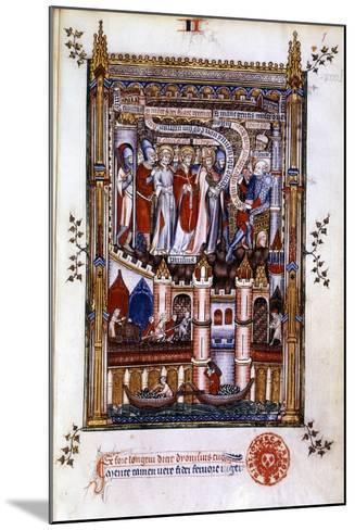 St Denis before Sisinnius, 1317--Mounted Giclee Print