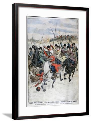 Female Siberian Cossack Cavalry Corps, Russo-Japanese War, 1904--Framed Art Print