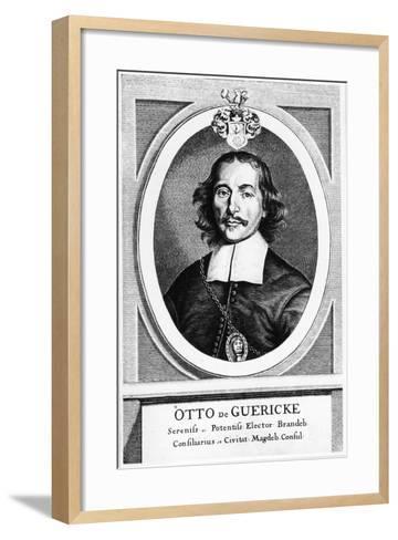 Otto Von Guericke, German Inventor, Engineer and Physicist, 1672--Framed Art Print