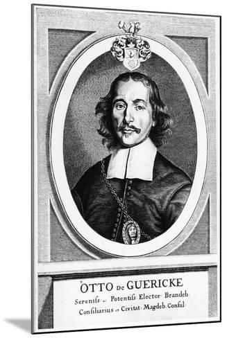 Otto Von Guericke, German Inventor, Engineer and Physicist, 1672--Mounted Giclee Print