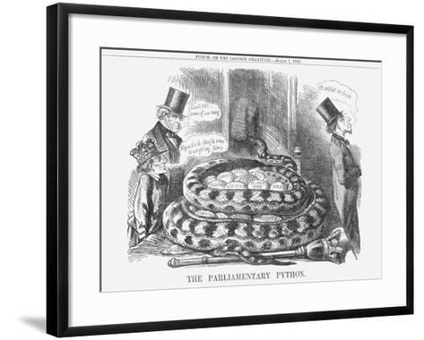 The Parliamentary Python, 1862--Framed Art Print