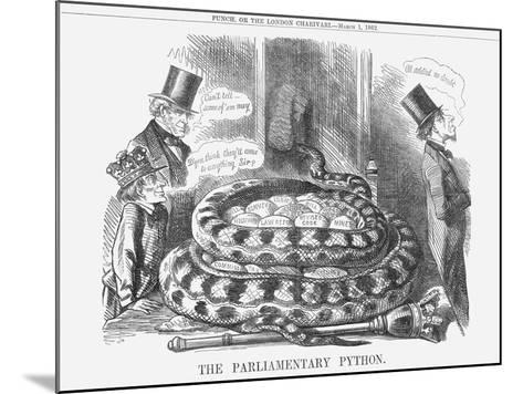 The Parliamentary Python, 1862--Mounted Giclee Print