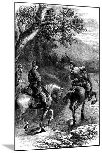 Night March on Harper's Ferry, Virginia, C1861--Mounted Giclee Print