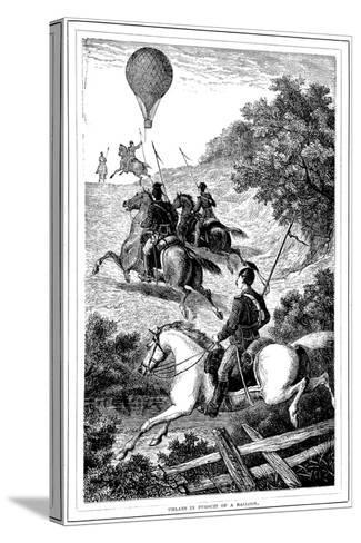 Uhlans in Pursuit of a Balloon, Franco-Prussian War, 1870-1871--Stretched Canvas Print