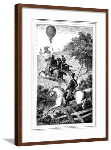 Uhlans in Pursuit of a Balloon, Franco-Prussian War, 1870-1871--Framed Art Print