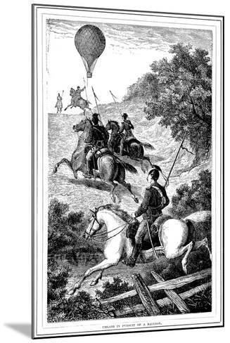 Uhlans in Pursuit of a Balloon, Franco-Prussian War, 1870-1871--Mounted Giclee Print