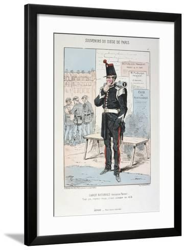 Garde Nationale (Ancien Tenu), Siege of Paris, Franco-Prussian War, 1870-1871--Framed Art Print