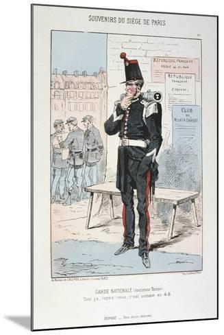 Garde Nationale (Ancien Tenu), Siege of Paris, Franco-Prussian War, 1870-1871--Mounted Giclee Print