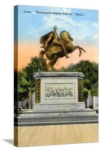 Simon Bolivar Monument, Lima, Peru, Early 20th Century--Stretched Canvas Print