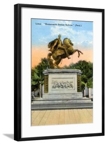 Simon Bolivar Monument, Lima, Peru, Early 20th Century--Framed Art Print