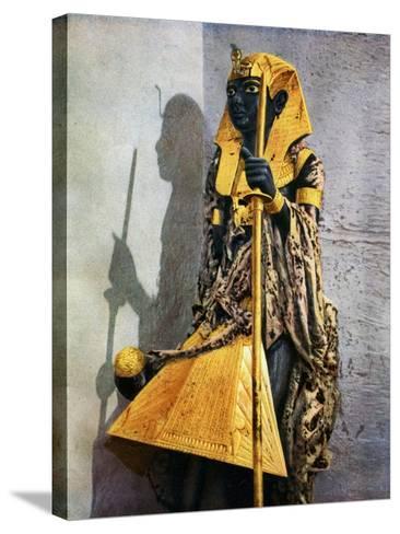 Wooden Statue of Tutankhamun, Egypt, 1933-1934-Harry Burton-Stretched Canvas Print