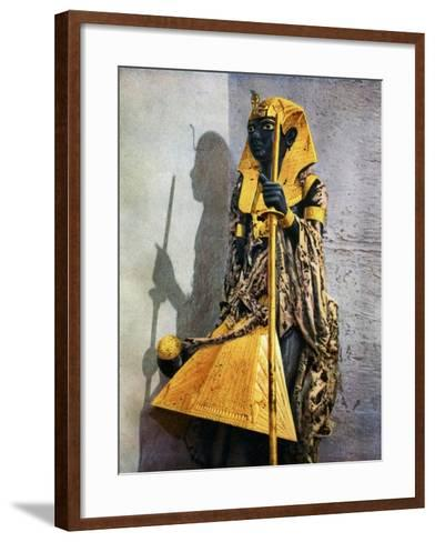 Wooden Statue of Tutankhamun, Egypt, 1933-1934-Harry Burton-Framed Art Print