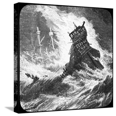 The Spanish Armada in a Tempest, 1588--Stretched Canvas Print