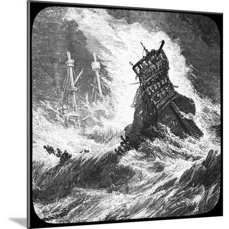 The Spanish Armada in a Tempest, 1588--Mounted Giclee Print