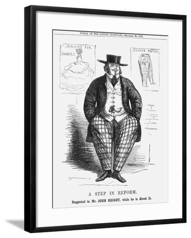 A Step in Reform. Suggested to Mr. John Bright, While He Is About It, 1858--Framed Art Print