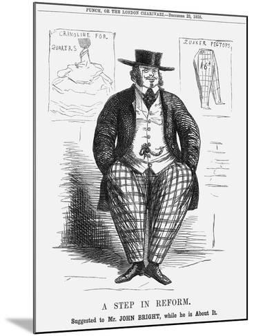 A Step in Reform. Suggested to Mr. John Bright, While He Is About It, 1858--Mounted Giclee Print