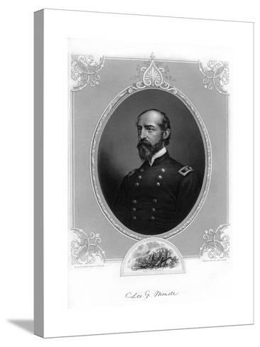 General George Meade, Us Army Officer and Civil Engineer, 1862-1867- Brady-Stretched Canvas Print