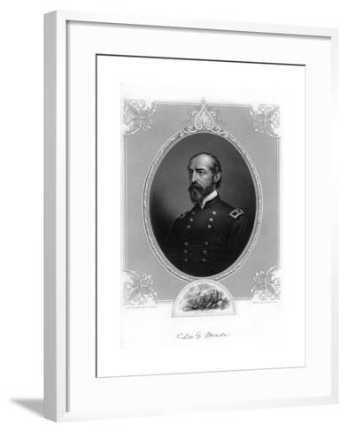 General George Meade, Us Army Officer and Civil Engineer, 1862-1867- Brady-Framed Art Print