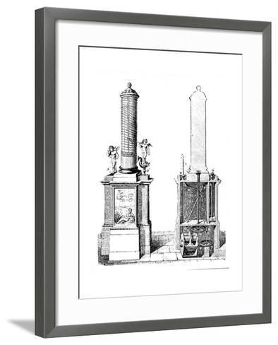 Reconstruction of a Clepsydra (Water Cloc), Invented by Ctesibius of Alexandria, C270 BC--Framed Art Print