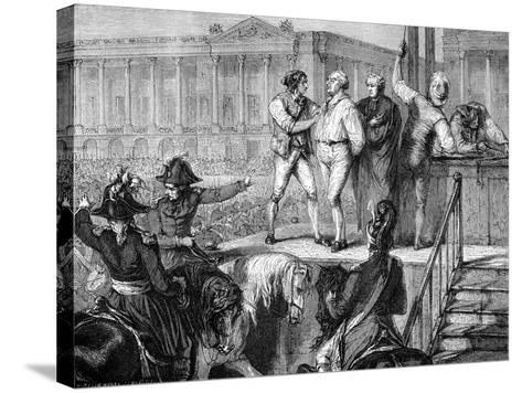 Execution of Louis XVI of France, Paris, 21st January 1793 (1882-188)--Stretched Canvas Print
