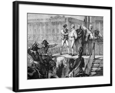 Execution of Louis XVI of France, Paris, 21st January 1793 (1882-188)--Framed Art Print