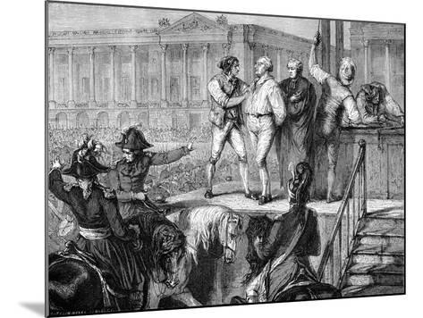 Execution of Louis XVI of France, Paris, 21st January 1793 (1882-188)--Mounted Giclee Print