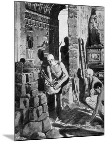 The Final Interior Decoration and Sealing of Tutankhamun's Tomb, Egypt, 1325 BC-Fortunino Matania-Mounted Giclee Print