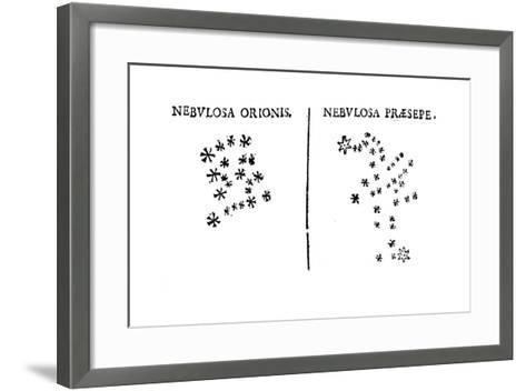 Galileo's Observation of the Star Cluster in Orion and of the Praesepe Cluster, 1610--Framed Art Print